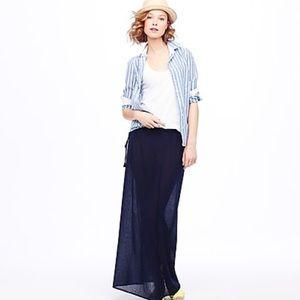 J. Crew Gauze Maxi Skirt